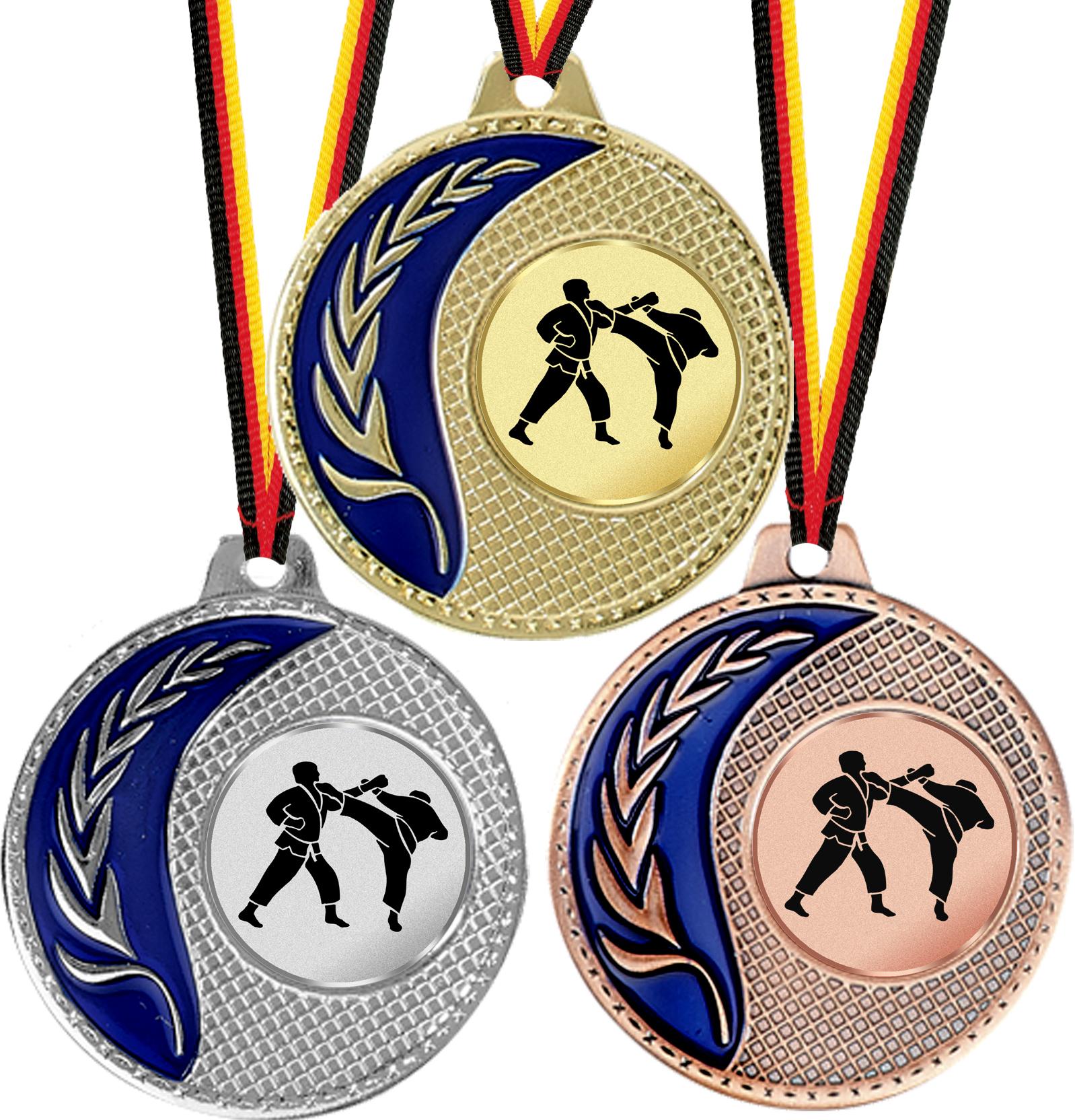 Massive Medaille emailliert 50mmØ Medaillen Standardmedaillen