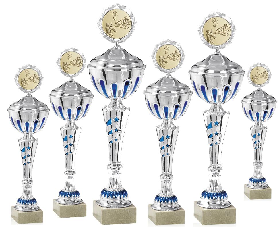 Pokale aus 6er Pokalserie: 9-13-0400D - 9-13-0405D, 35 - 50 cm