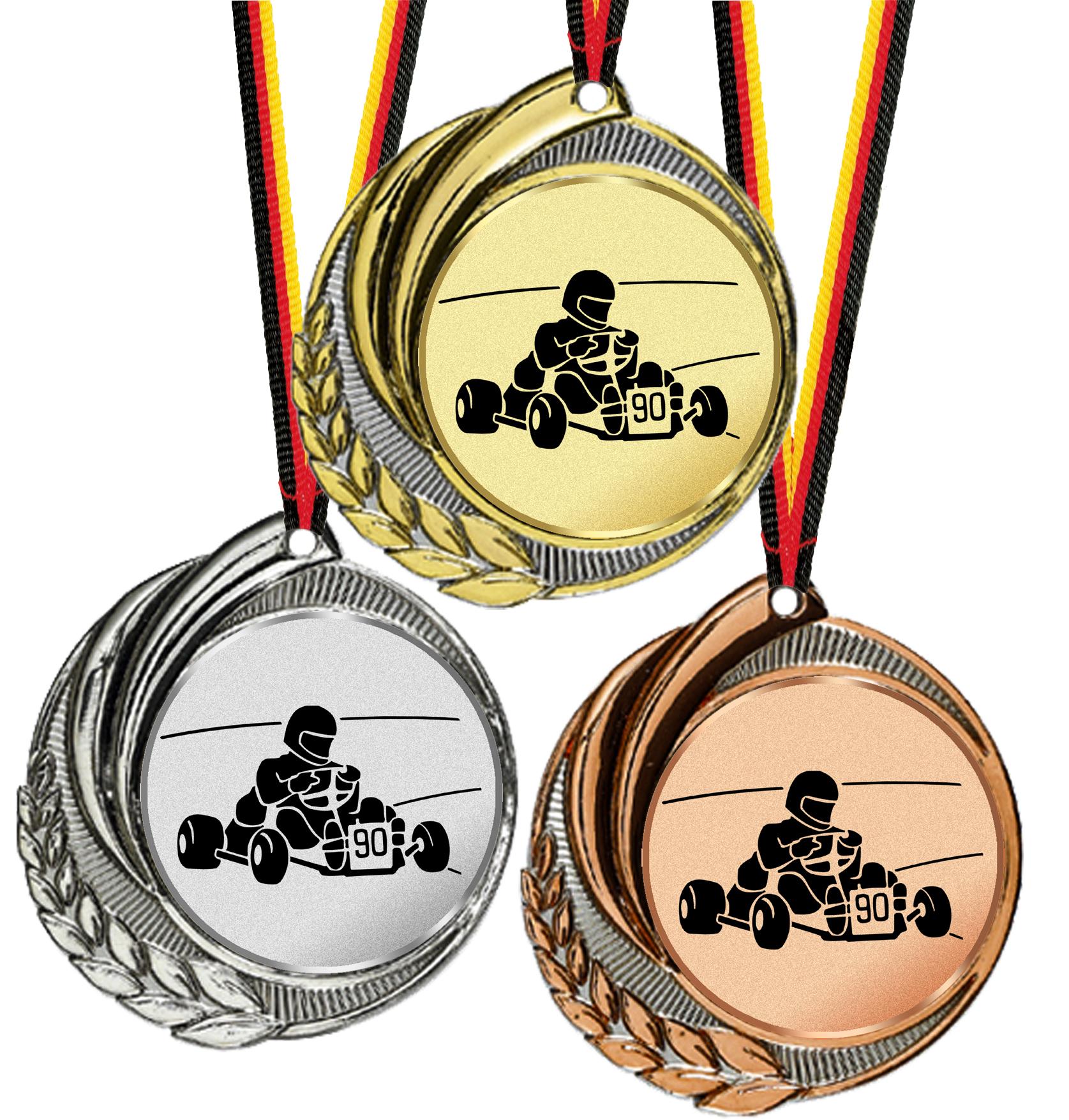 Hochwertige Medaille 70mmØ Medaillen Standardmedaillen