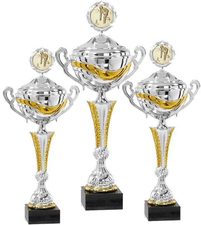 Pokale aus 3er Pokalserie: 9-15-0503D - 9-15-0505D , 47 cm - 54 cm