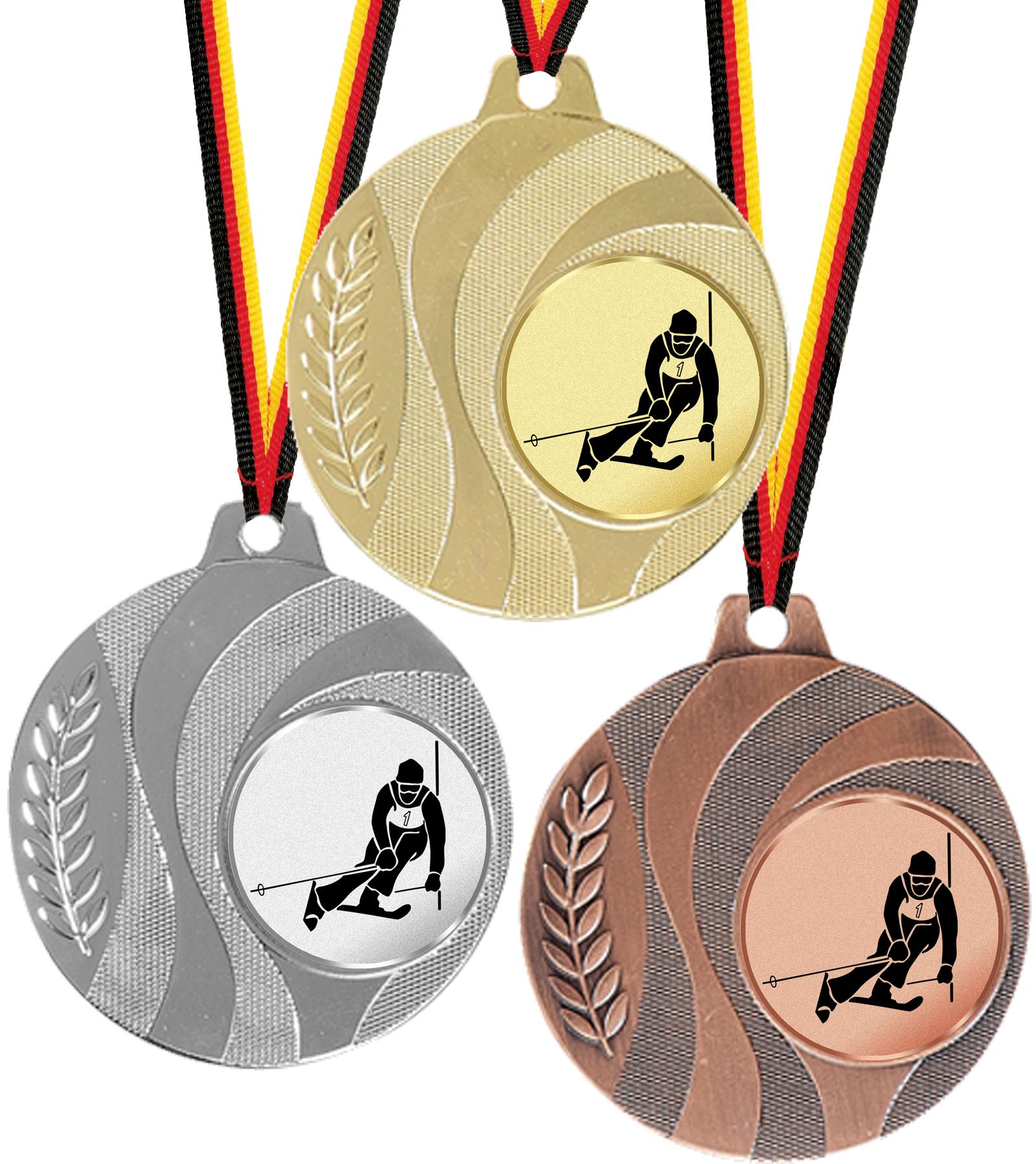Medaille massives Metall 50mm Ø Medaillen Standardmedaillen