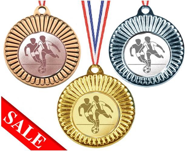 Medaille günstig mit Emblem für alle Sportarten 40mm Ø Medaillen Standardmedaillen