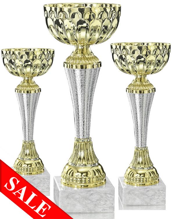 Pokale aus 3er Pokalserie: 9-12-0121 - 9-11-0123, 20,0 - 24,0 cm