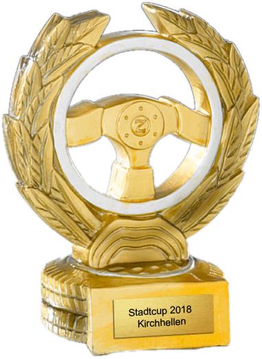 Resinfigur Motorsport 13 cm Figuren Pokal ohne Emblem