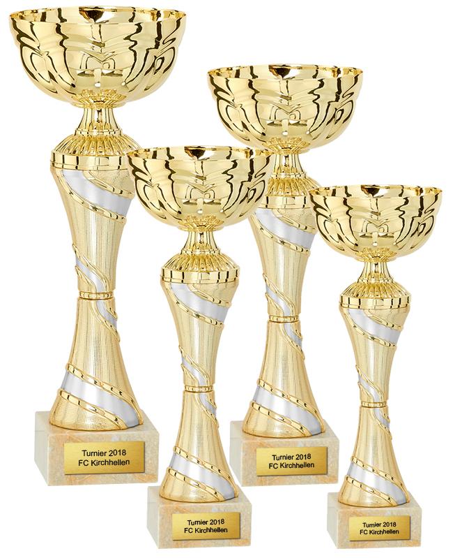 4er Pokalserie 20-26cm Pokale Pokal ohne Emblem
