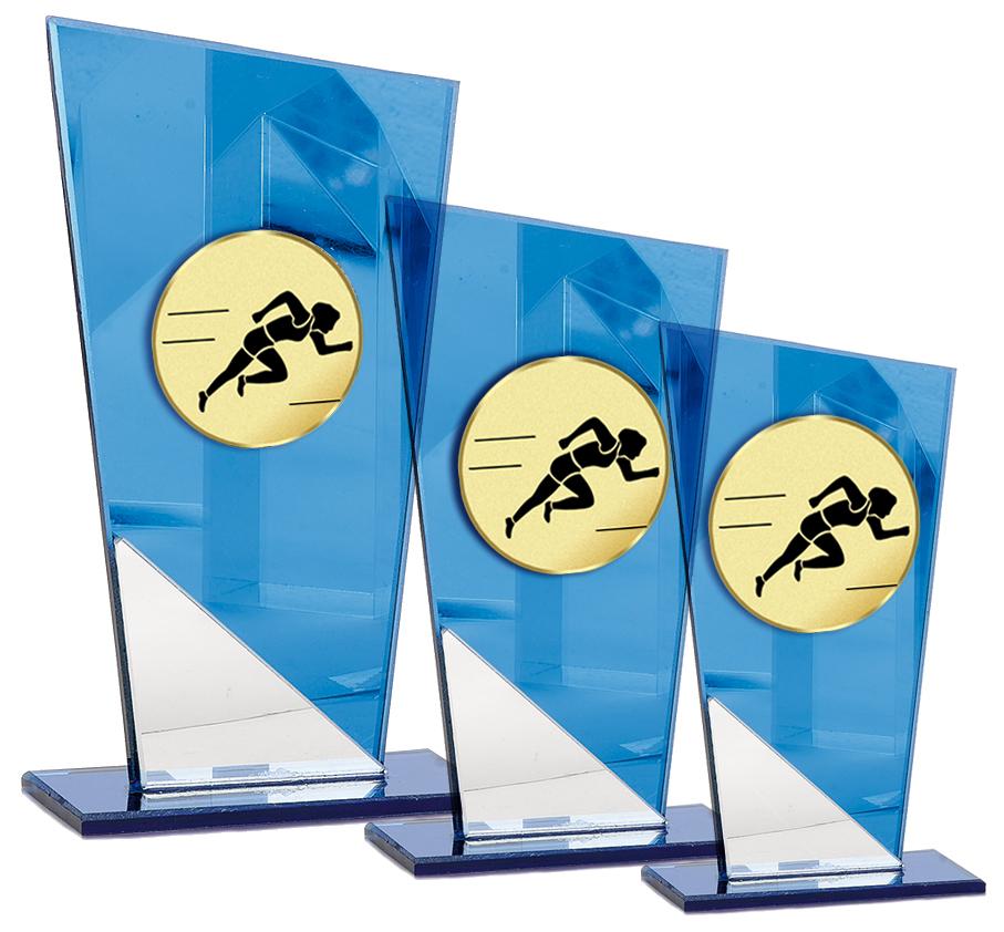 Glastrophäen für alle Sportarten 11-18cm Glastrophäen Glastrophäen mit Emblem