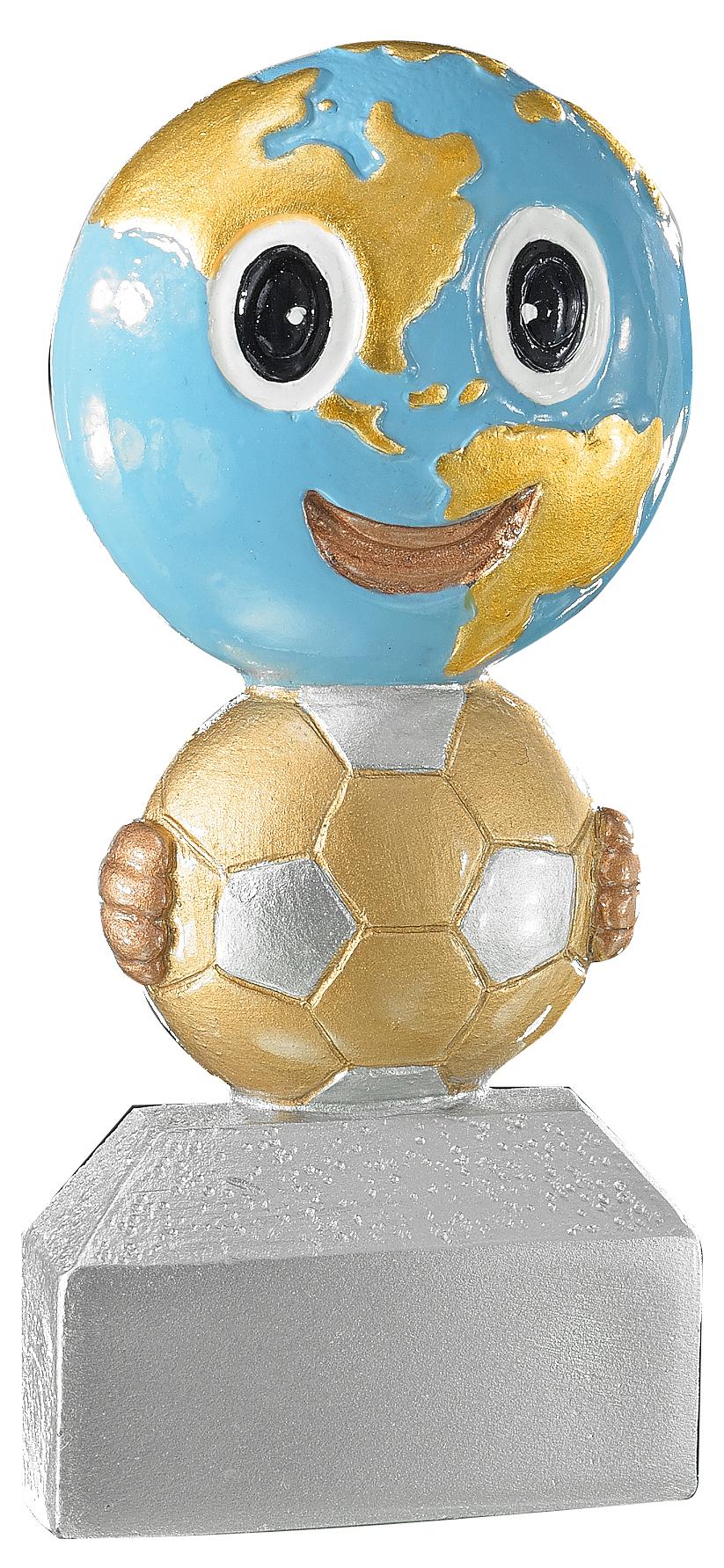 Pokal Fußballfigur Kinder 13cm Figuren Pokal ohne Emblem