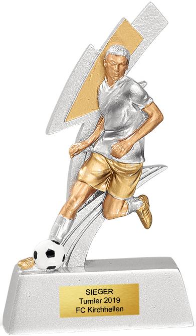 Fußball Trophäe Herren 11cm ab 100Stück Figuren Pokal ohne Emblem