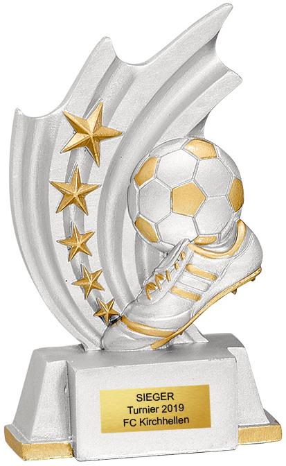 Fußball Trophäe 11cm Figuren Pokal ohne Emblem
