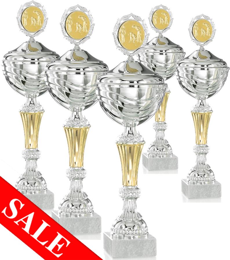 Pokale aus 5er Pokalserie: 9-26-1401D - 9-26-1405 D, 29 - 37 cm