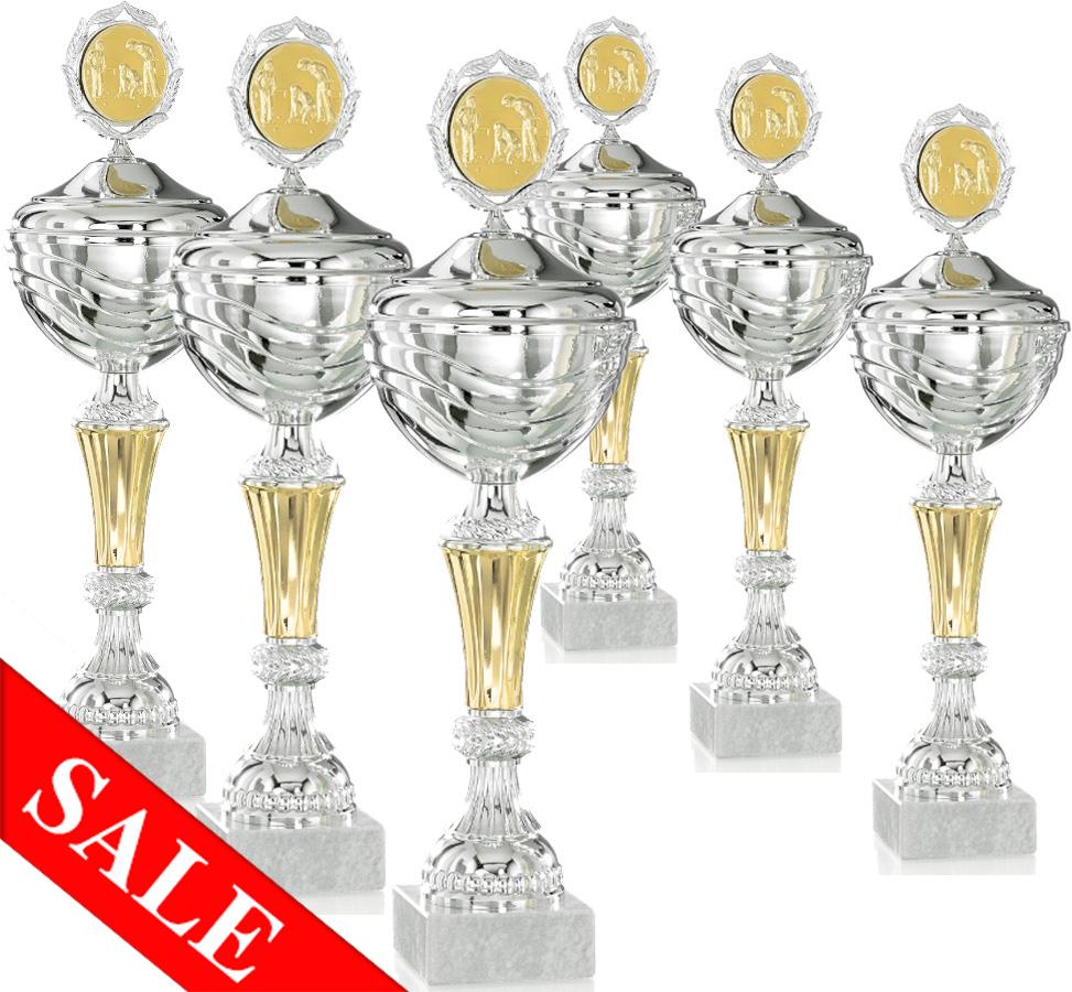 Pokale aus 6er Pokalserie: 9-26-1401D - 9-26-1406 D, 29 - 39 cm