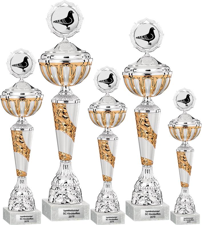 5er Pokalserie 35-50cm Pokale Silberpokal silber