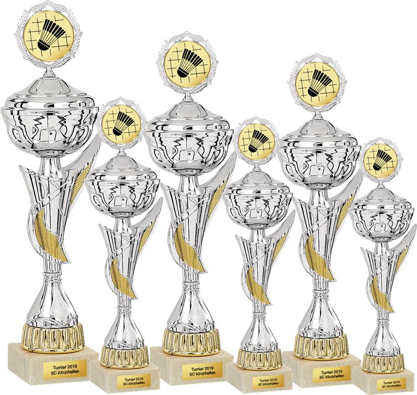 6er Pokalserie 37-50cm Pokale Goldpokal Gold