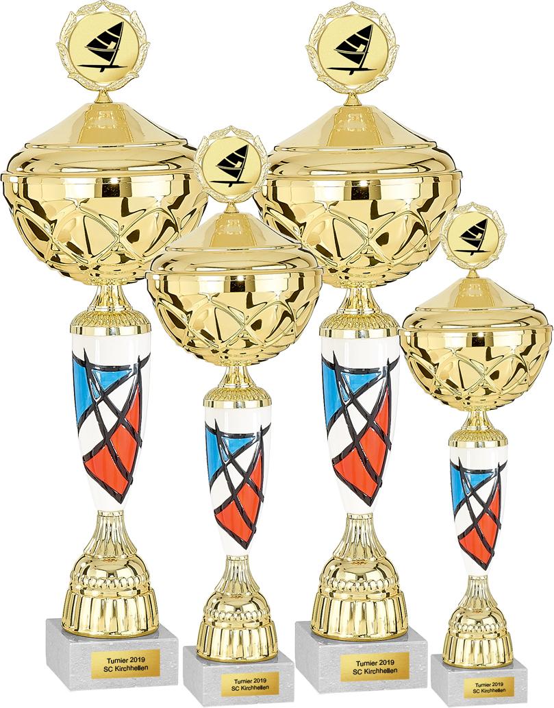 4er Pokalserie 35-45cm Pokale Silberpokal silber
