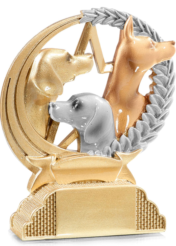 Hundesport Trophäe Figuren Pokal ohne Emblem
