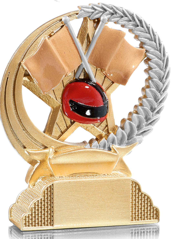 Motorsport Trophäe Figuren Pokal ohne Emblem