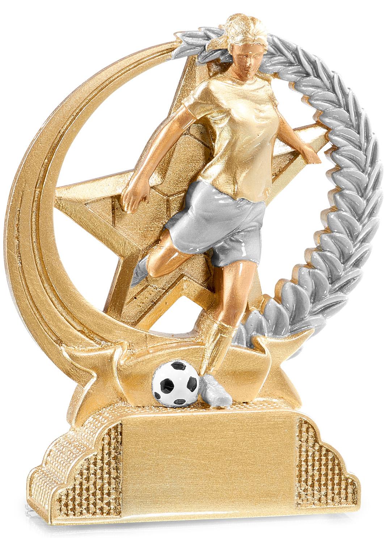 Trophäe Frauenfußball 13cm Figuren Pokal ohne Emblem