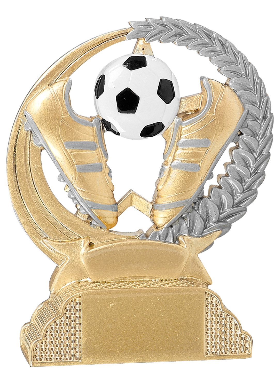 Fußball Trophäe 13cm Figuren Pokal ohne Emblem