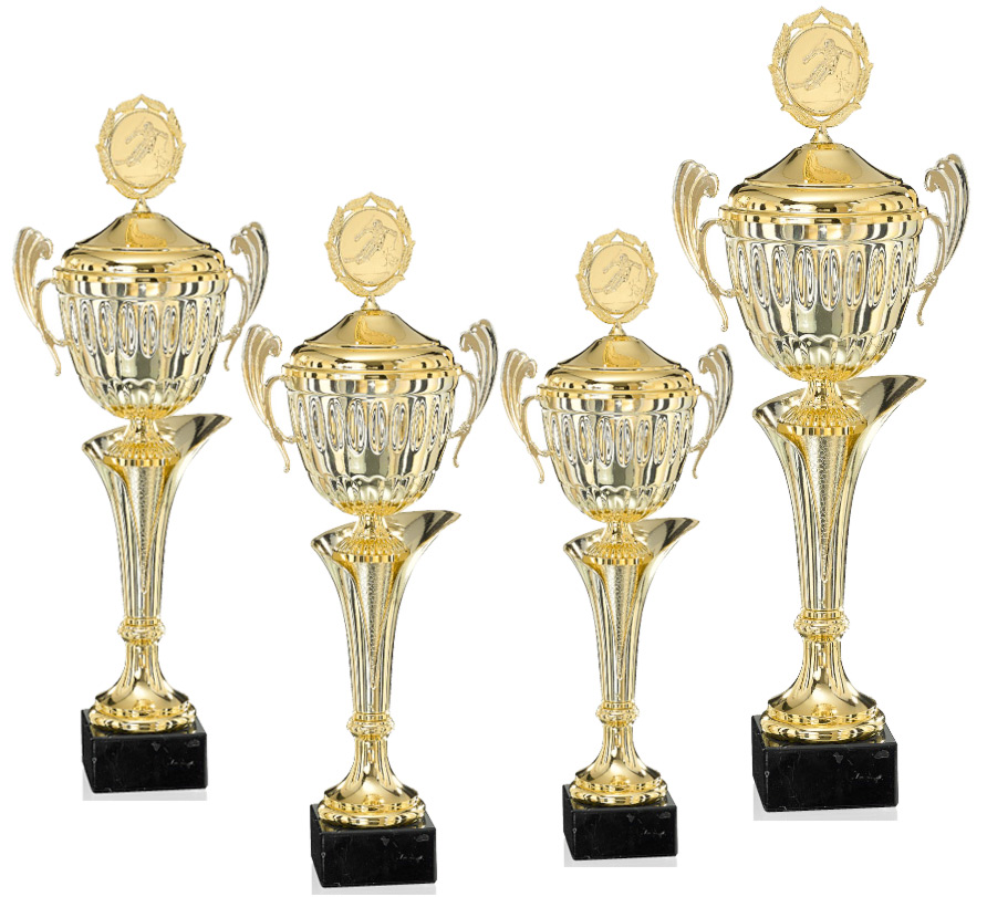 Pokale aus 4er Pokalserie: 9-36-31D - 9-36-34D, 44 - 59 cm