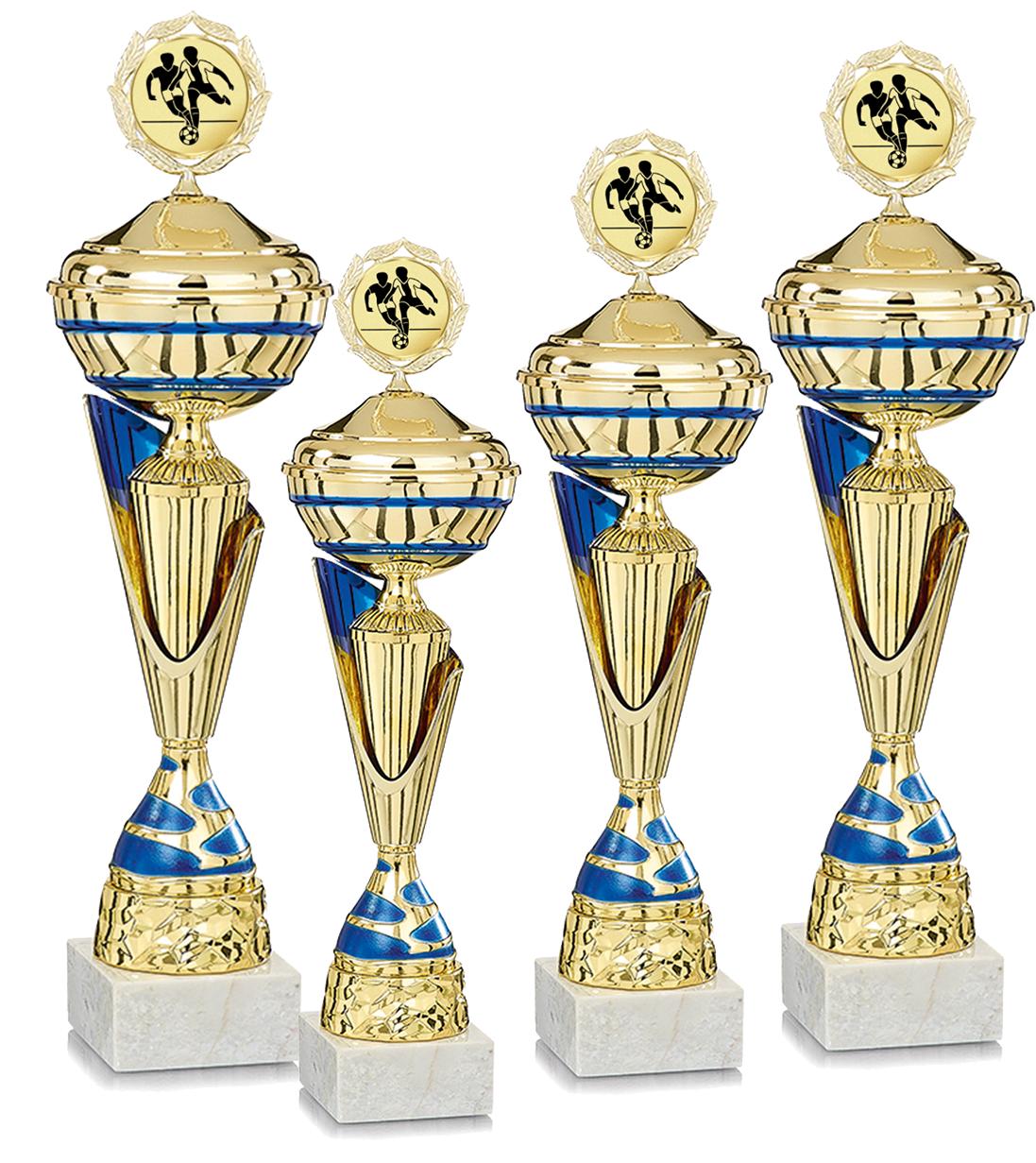 4er Serie 40-51cm Pokale Silberpokal silber