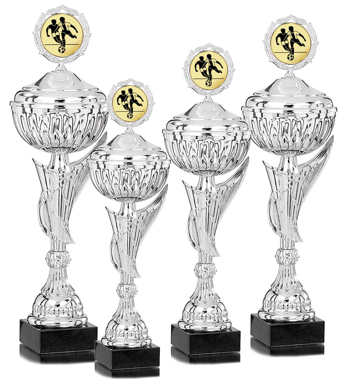 4er Pokalserie 36-49 cm Pokale Silberpokal silber