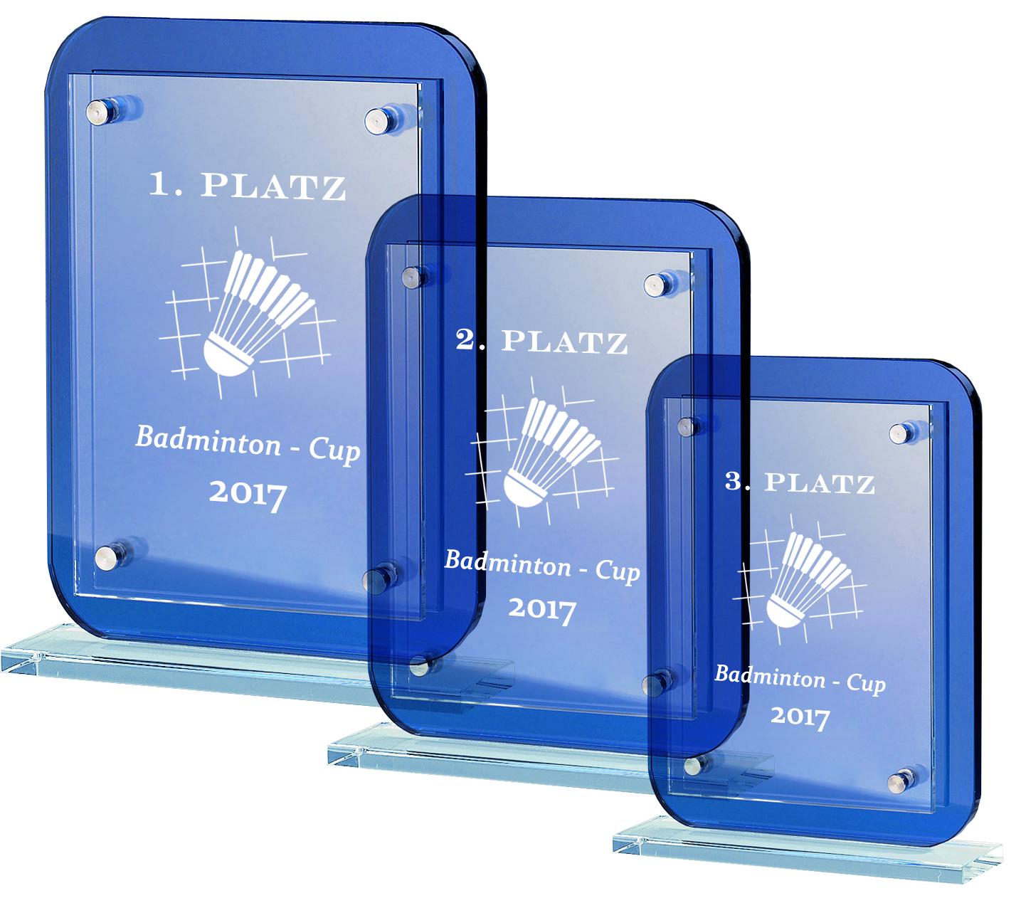 Glaspokale alle Sportarten 19,5-25,5 cm Glastrophäen