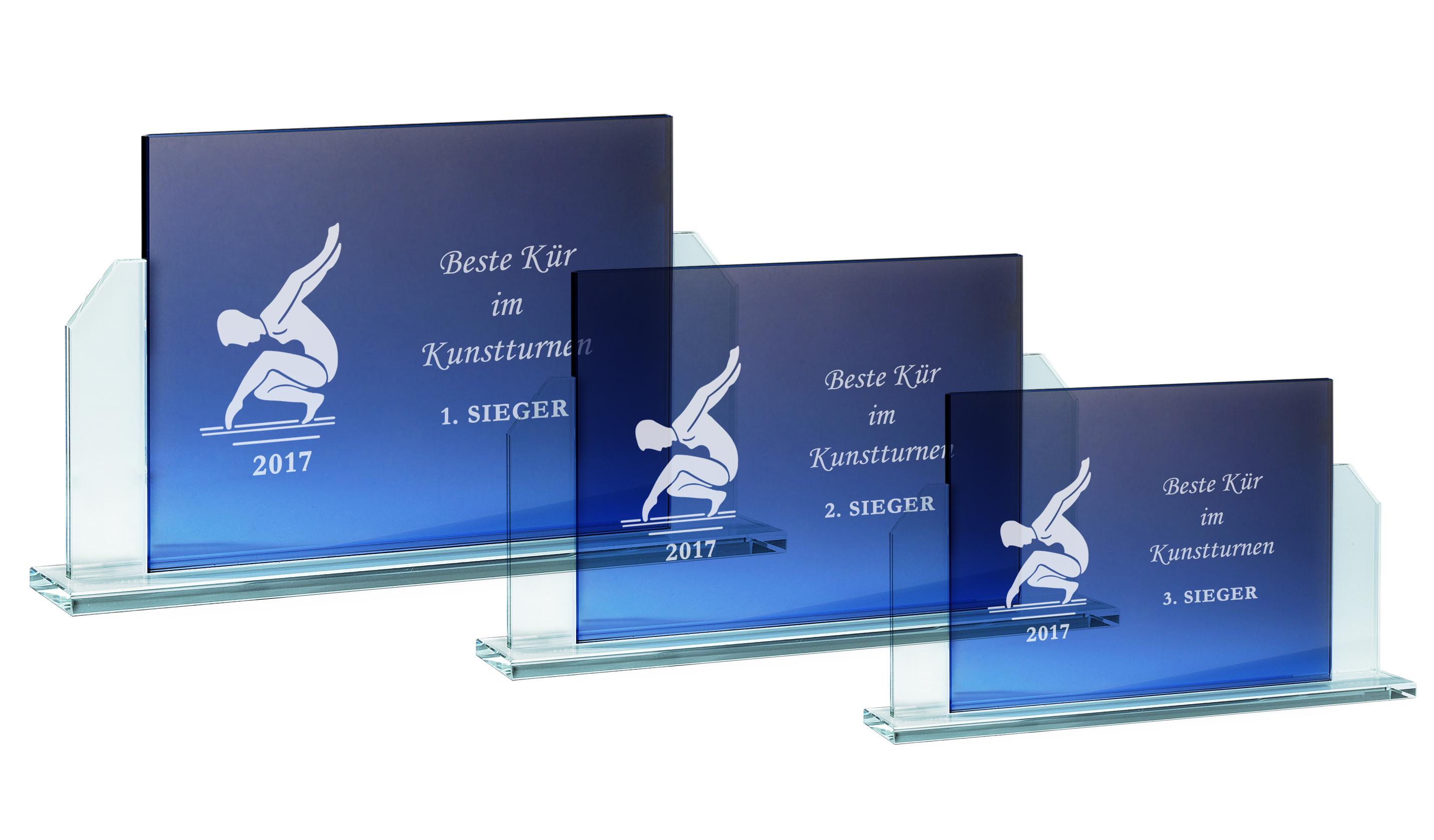 Glaspokale Glastrophäen 15-20,5 cm Glastrophäen