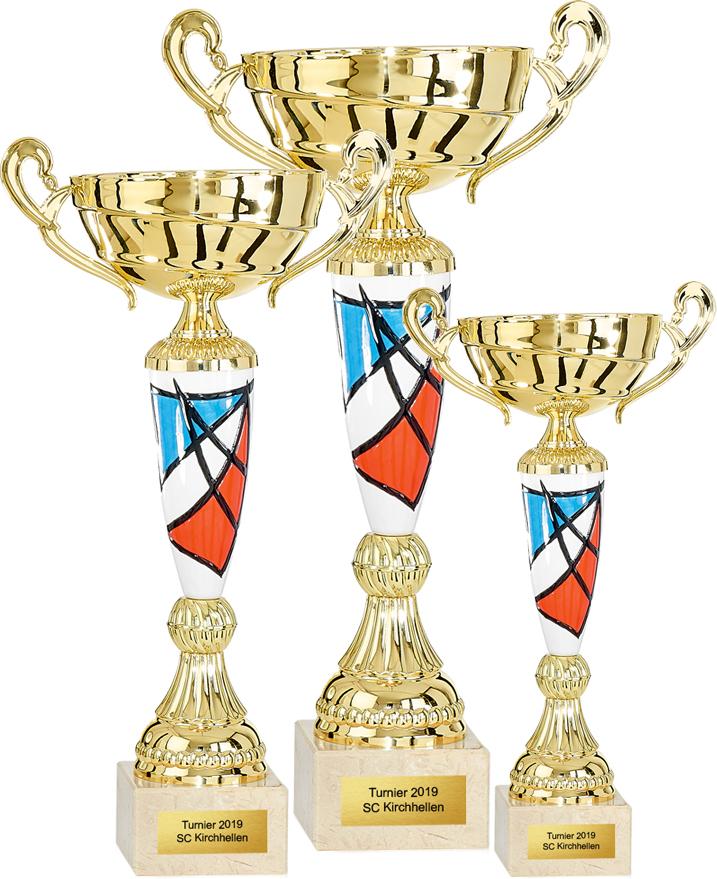 3er Pokalserie 29-39cm Pokale Pokal ohne Emblem