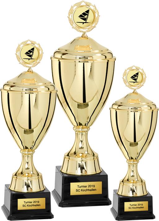 3er Pokalserie 38-46cm Pokale Goldpokal Gold