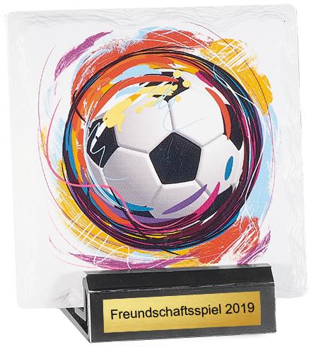 Fußball Trophäe Keramik 13cm Figuren Pokal ohne Emblem