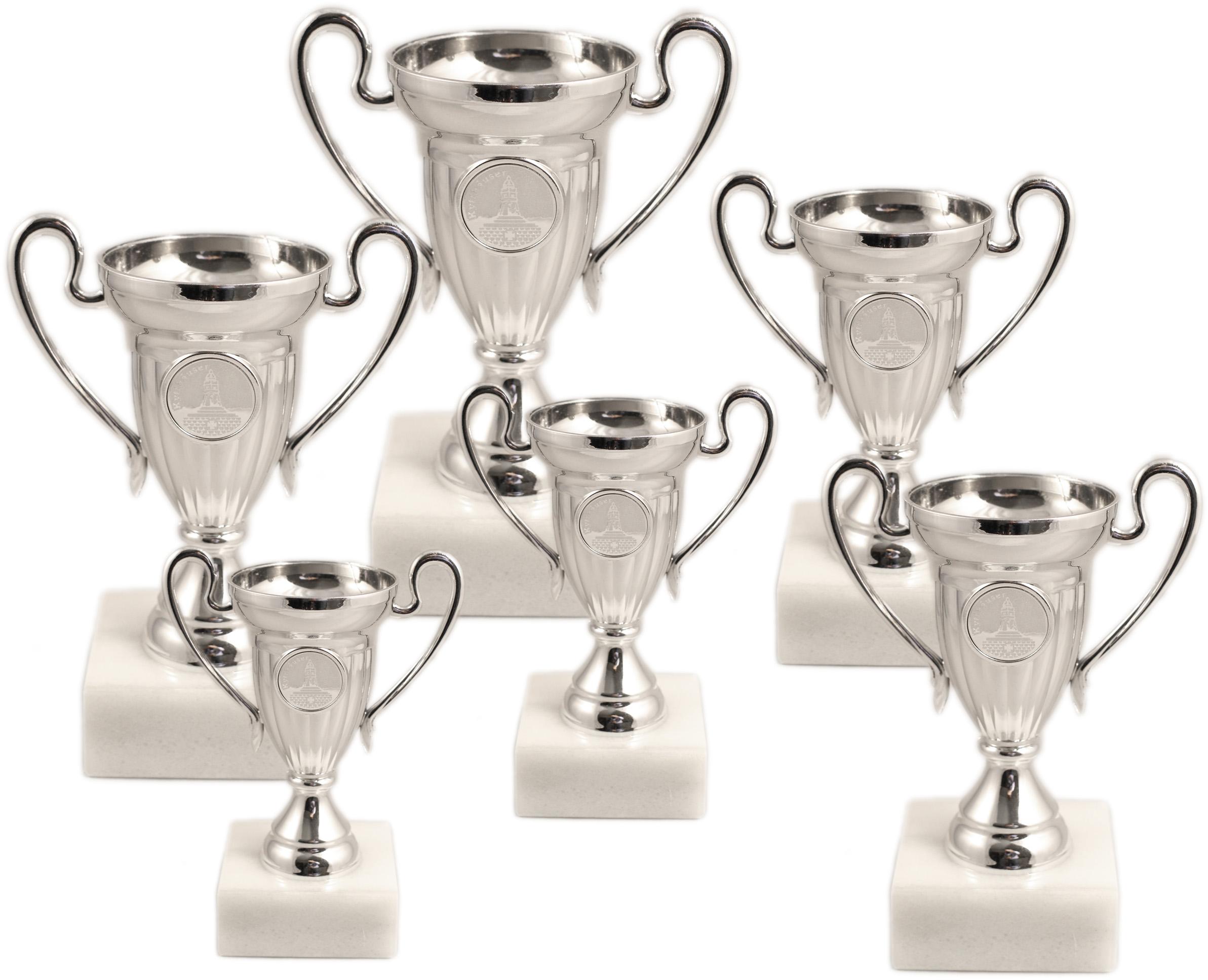 Pokale aus 6er Pokalserie: 46629 - 46634, 11,0 - 21,0 cm