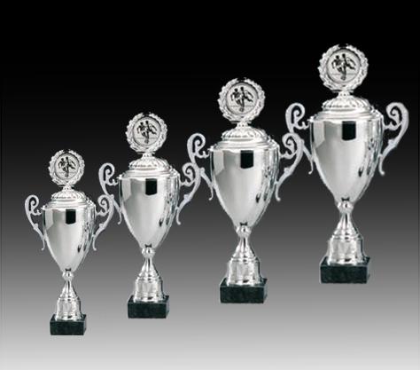 Pokale aus 4er Pokalserie: 69126 - 69129, 41,5 - 53,5 cm