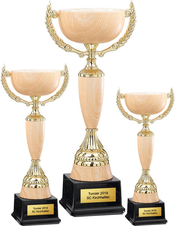 3er Pokalserie 37-57cm Pokale Pokal ohne Emblem