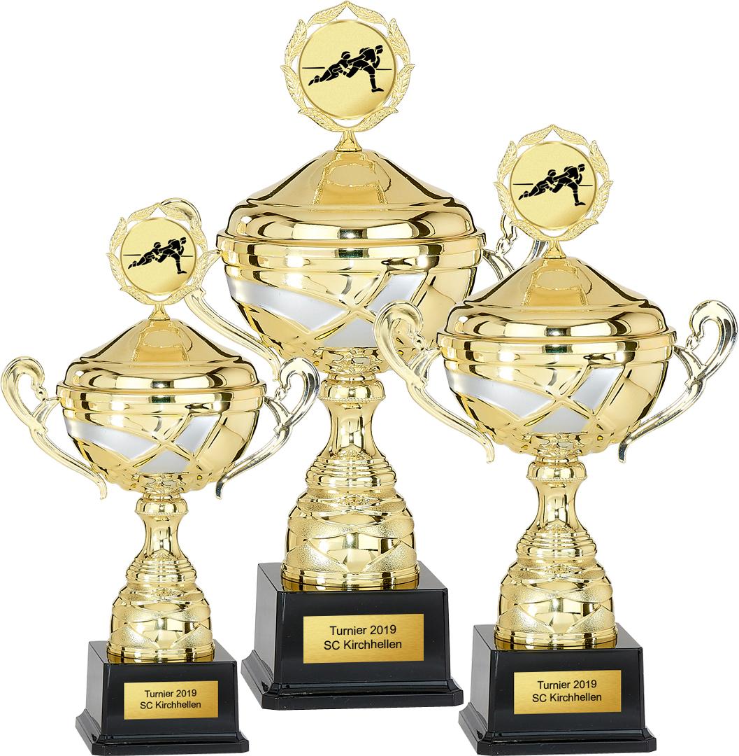 3er Pokalserie 32-39cm Pokale Goldpokal Gold