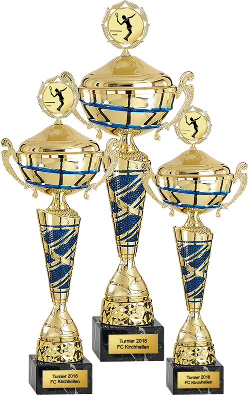 3er Pokalserie 40-50cm Pokale Silberpokal silber
