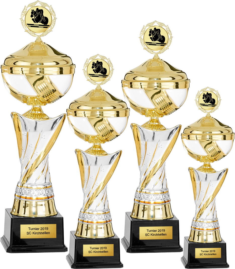 4er Pokalserie 39-50cm Pokale Pokal ohne Emblem