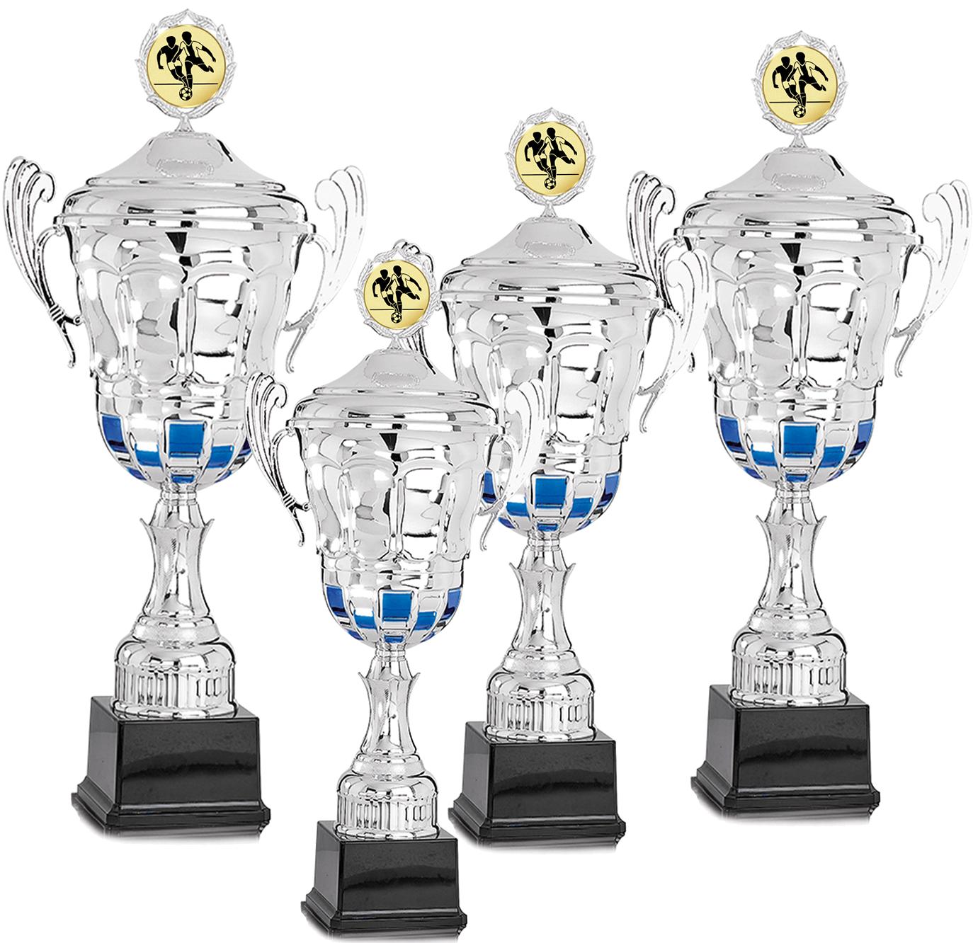 4er Pokalserie 41-57cm Pokale Silberpokal silber