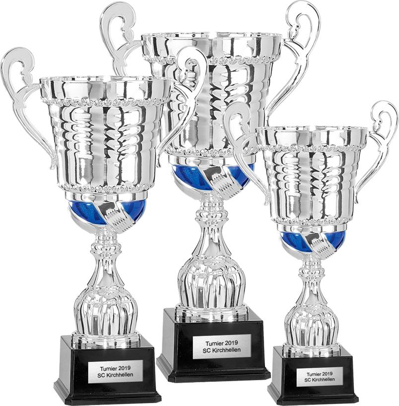 3er Pokalserie 36-45cm Pokale Pokale ohne Deckel