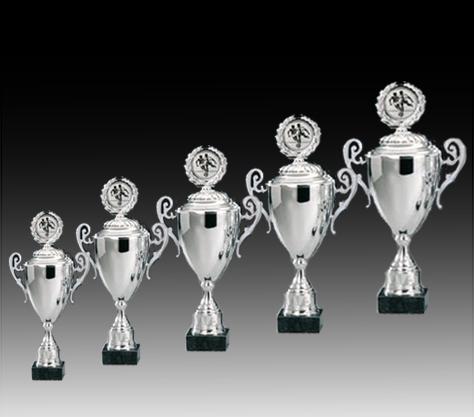 Pokale aus 5er Pokalserie: 69125 - 69129, 39,5 - 53,5 cm