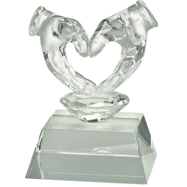 Glasfigur Herz Valentinstag Pokale Pokale ohne Deckel