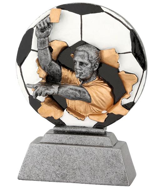 Fußball-Trophäe Schiedsrichter Figuren Pokal ohne Emblem