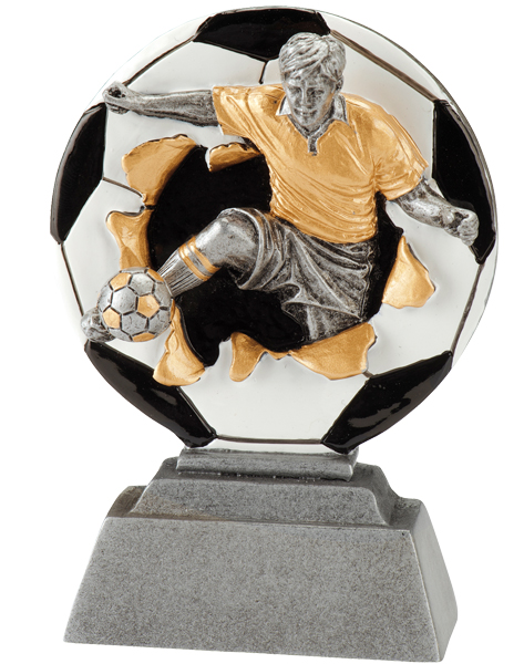 3D Fußballfigur Trophäe 10 cm Figuren Pokal ohne Emblem