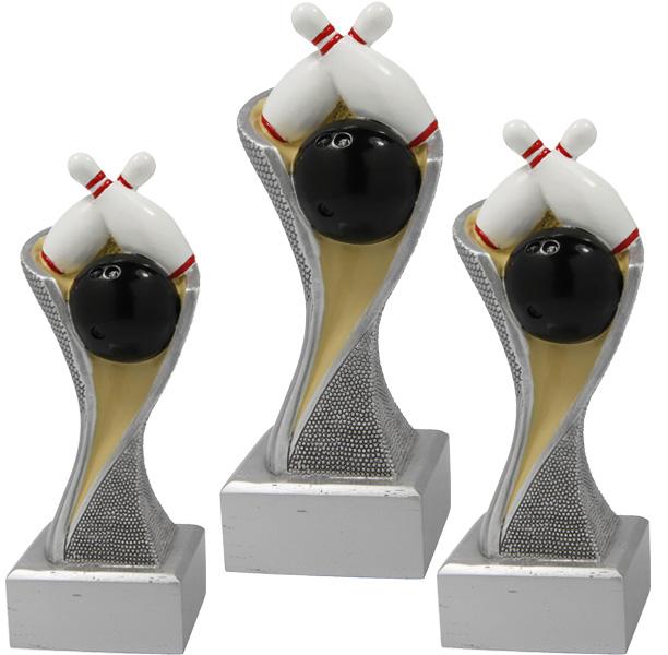 Bowling Trophäe 3er Serie Figuren Pokal ohne Emblem