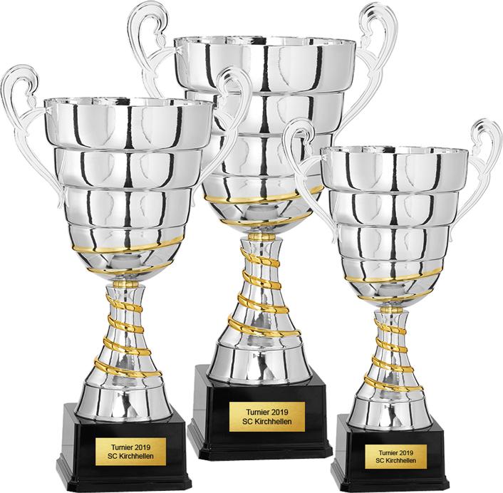 3er Pokalserie 40-49cm Pokale Pokal ohne Emblem