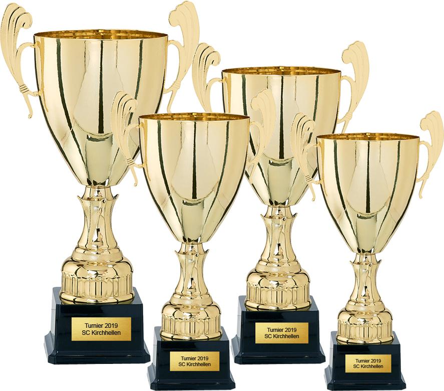 4er Pokalserie 37-48cm Pokale Pokal ohne Emblem