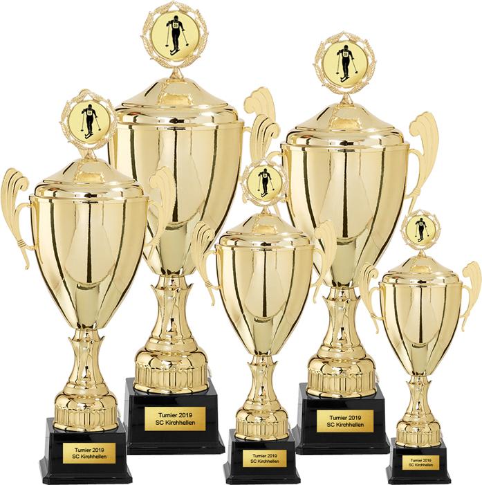 5er Pokalserie 36-53cm Pokale Goldpokal Gold
