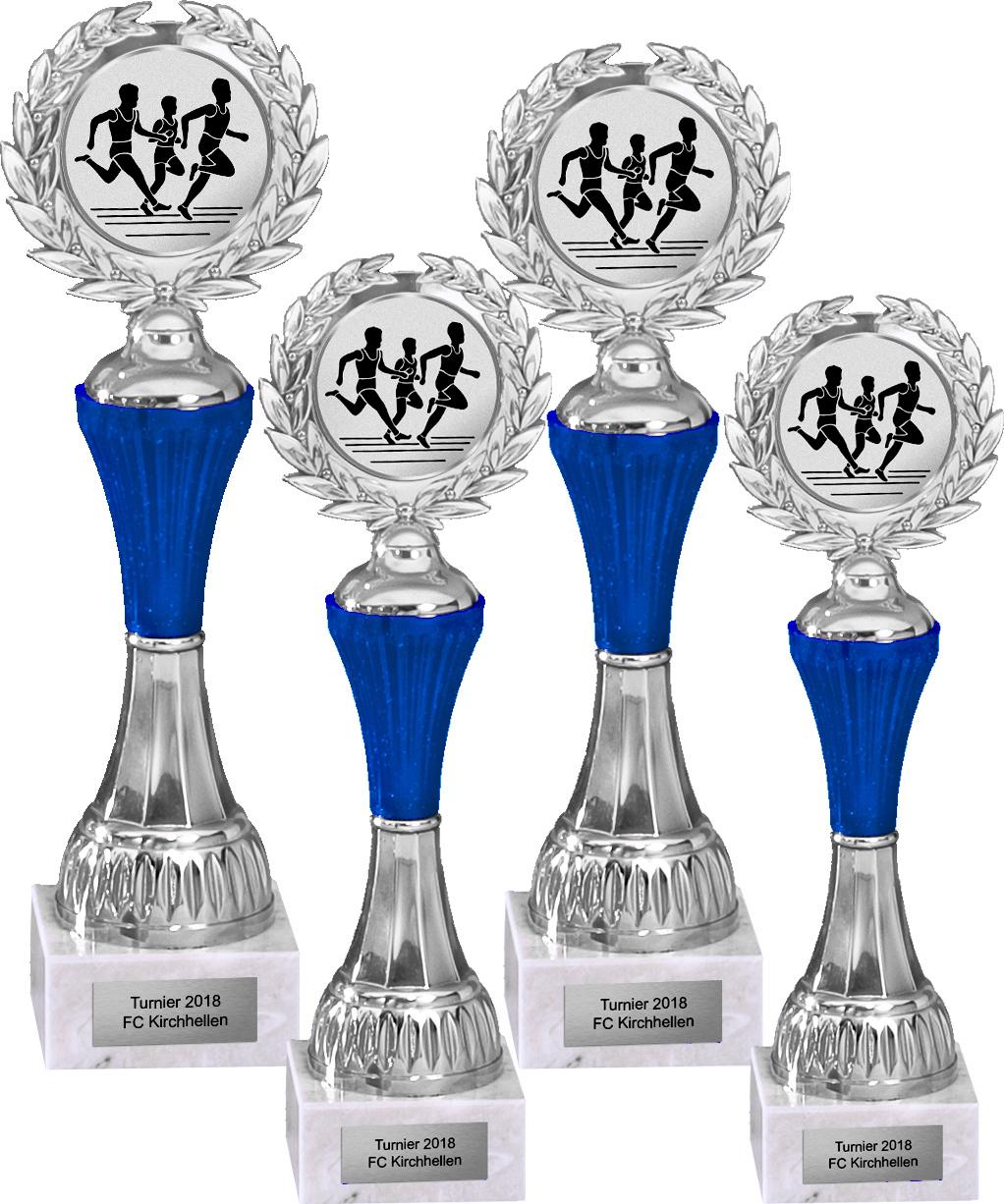4er Pokalserie 23-27cm Pokale Silberpokal silber versilbert