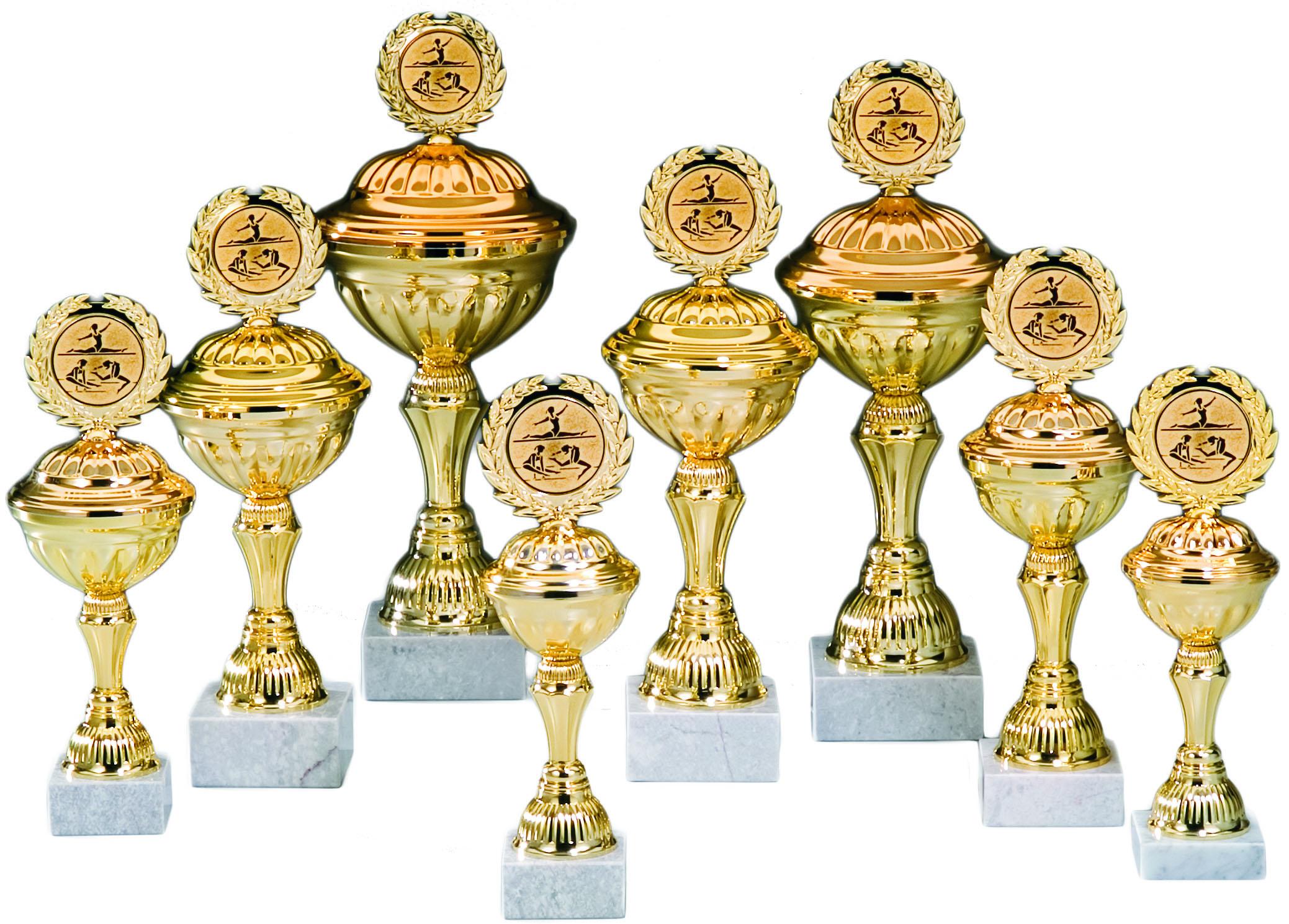 Pokale aus 8er Pokalserie: 68210 - 68217, 26,5 - 41,5 cm