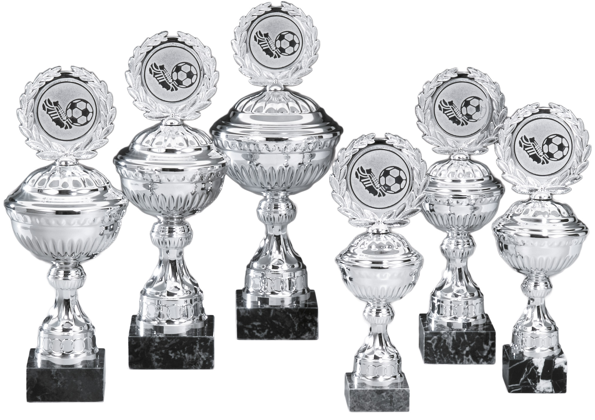 Pokale aus 6er Pokalserie: 68850 - 68855, 22,5 - 31,0 cm