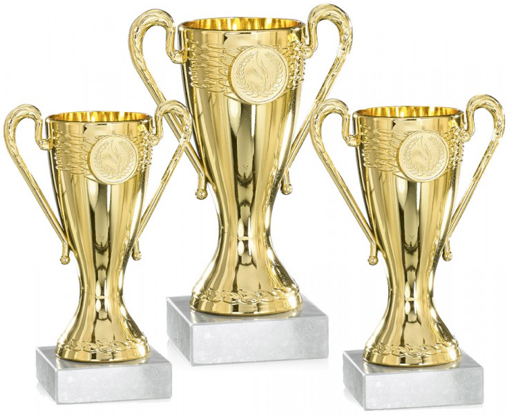 Pokale aus 3er Pokalserie: 9-17-0921L - 9-17-0923L, 12,5 - 16 cm